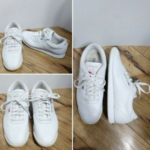 Vintage 80's 90's Reebok Classic White Sneakers 10